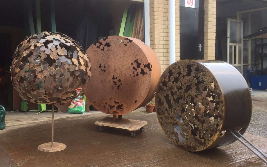 Corten steel sculptures are ready for delivery